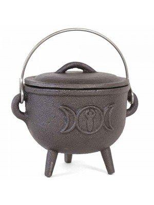 Wholesale Cast Iron Cauldron With Triple Moon - (11cm)