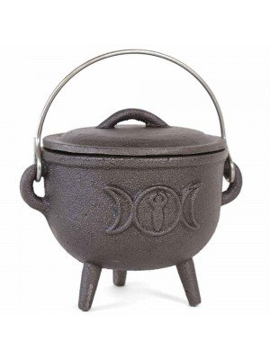 Wholesale Cast Iron Cauldron With Triple Moon - (11cm)