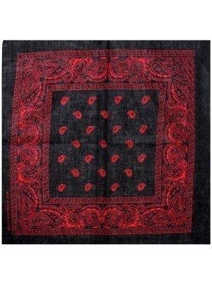Paisley Bandana - Black/Red