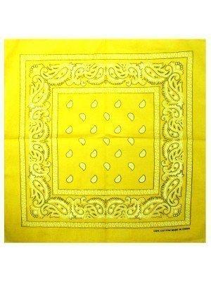 Paisley Bandana - Lemon Yellow
