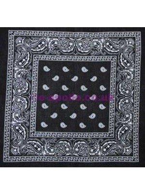 Wholesale Paisley Bandanas - Black