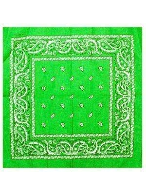 Paisley Print Bandana - Green