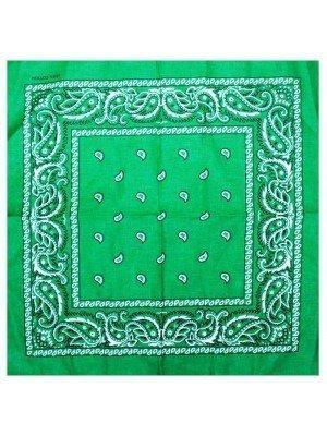 Wholesale Paisley Print Bandana - Green