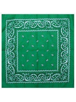 Paisley Print Bandana - Hunter Green