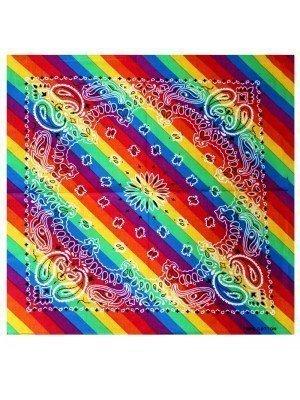 Wholesale Paisley Print Rainbow Bandana