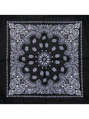 Paisley Bandana - Black (Floral Print)