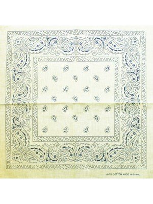 Paisley Bandana - Ivory