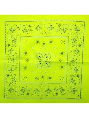 Paisley Bandana - Neon Yellow