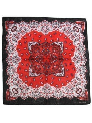 Paisley Design Black & Red Bandanna