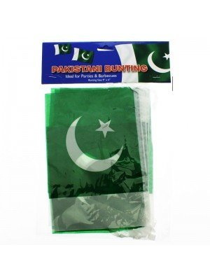 "Wholesale Pakistan Bunting Flags 12Ft 9""x6"""