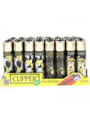 Wholesale Clipper Flint Reusable Lighters VIP Party Design - Assorted