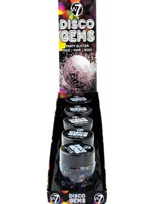 Wholesale W7 Disco Gems Party Glitter Gel Makeup - Night Rider