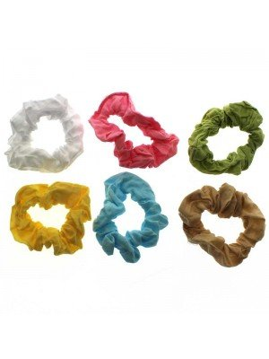 Wholesale Pastel Coloured Fabric Scrunchies - Assorted Colours
