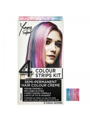 Wholesale Yummy Colour Semi-Permanent 4 Colour Strips Kit - Pastel