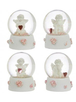 Wholesale Peace of Heaven Sweet Dreams Cherub Snow Globe Water ball - Assorted