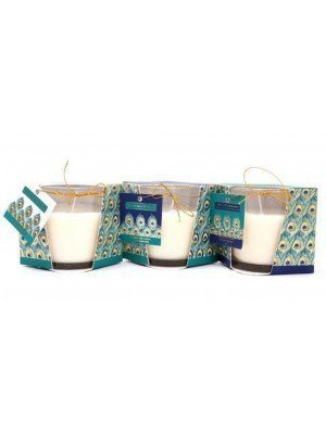 Peacock Feather Scented Candles 8cm - Assorted