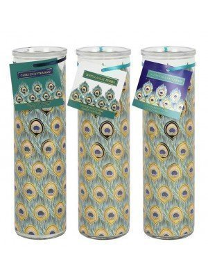 Wholesale Peacock Tube Candles In 3 Assorted Fragrances
