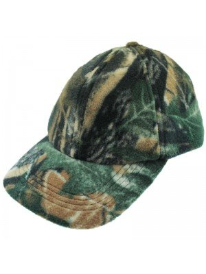 Baseball Cap Camouflage Leaf Fleece