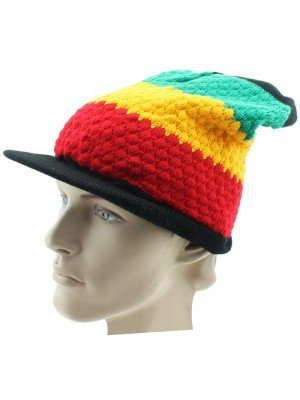 Peak Hat - Rasta Design