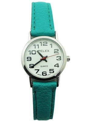 Wholesale  Pelex Ladies Classic Round Dial Leather Strap Watch - Coral & Silver