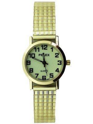 Wholesale Pelex Ladies Glow in The Dark Metal Expander Strap Watch - Gold
