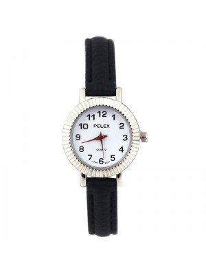 Wholesale Pelex Ladies Round Dial Faux Leather Strap Watch - D-Blue/Silver
