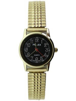 Wholesale Pelex Ladies Classic Round Dial Metal Expander Strap Watch