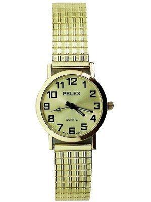 Wholesale Pelex Ladies Round Dial Metal Expander Strap Watch - Gold
