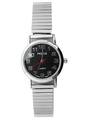 Wholesale Pelex Ladies Round Dial Metal Expander Strap Watch - Silver