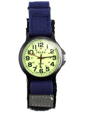 Pelex Men's Velcro Strap Glow In The Dark Watch - Blue Strap