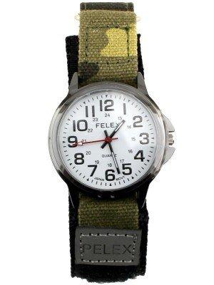 Pelex Men's Velcro Strap Watch - Black / Camo