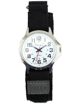 Pelex Men's Velcro Strap Watch - Black Strap