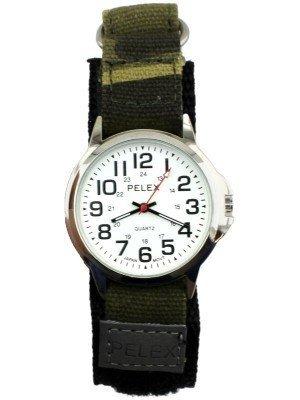 Pelex Men's Classic Design Velcro Strap Watch - Camo