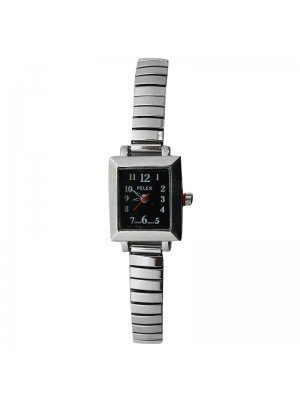 Pelex Ladies Square Dial Metal Expander Strap Watch - Silver