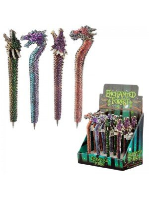Wholesale Enchanted Forest Dragon Hand Painted Ink Pens-Assorted