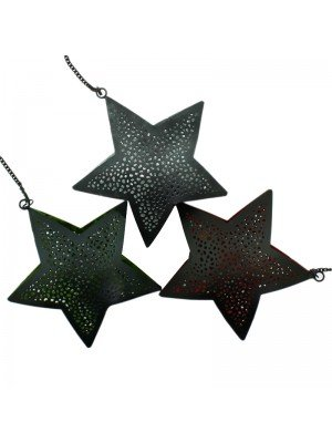 Perforated Star Shaped Coloured Foil - Assorted Colours