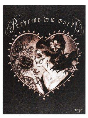 Perfume De La Mort Canvas Plaque By Alchemy - 25 x 19cm