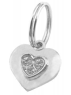 Pet Charm - Heart Diamante