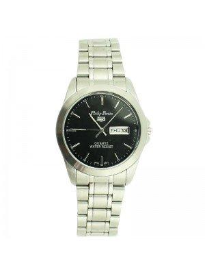 Philip Persio Unisex Classic Watch - Black & Silver