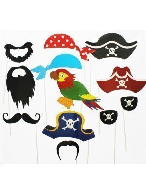 Photo Booth Selfie Props - Pirates