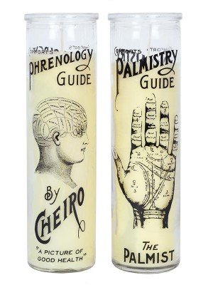 Wholesale Phrenology Glass Candles - Assorted