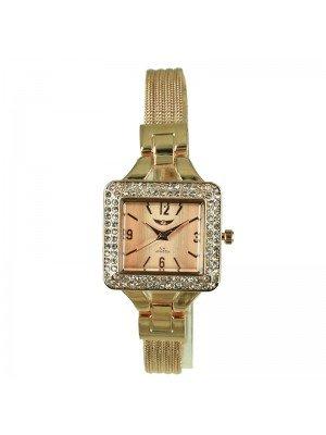 Wholesale NY London Ladies' Square Dial Bracelet Watch - Gold