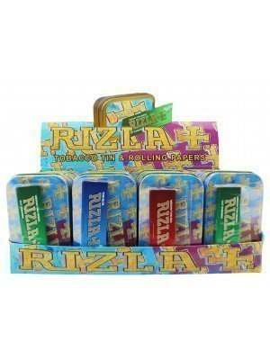 Wholesale Rizla 1 Oz Metal Tins & Rolling Papers - 20 Pcs