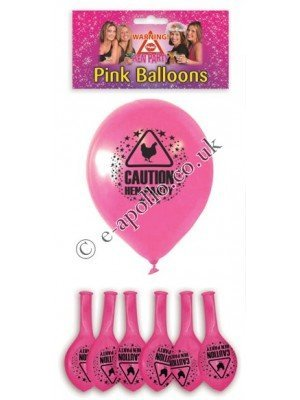 Pink Hen Party Balloons