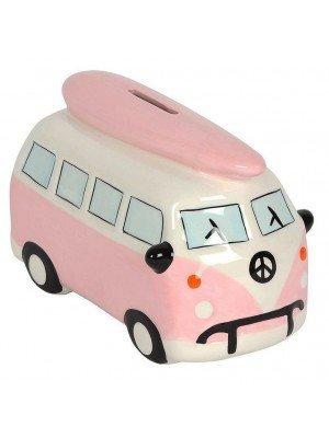 Pink Campervan Money Box - Medium