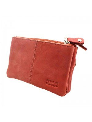 Ladies Genuine Leather Purse - Pink