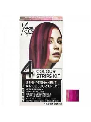 Wholesale Yummy Colour Semi-Permanent 4 Colour Strips Kit - Pink Ombre