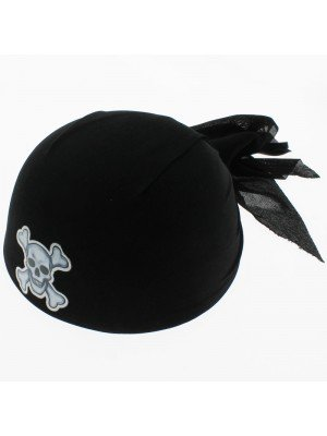 Pirate Bandana Hat - Black
