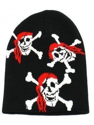 Pirate Skull & Crossbone Unisex Beanie Hat