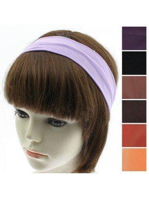 Plain 2cm Headbands - Assorted Colours